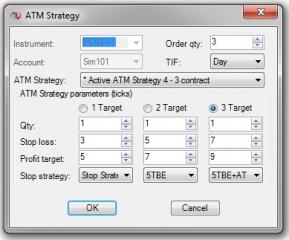 NinjaTrader ATM Strategy